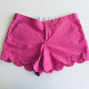 Lilly Pulitzer buttercup shorts pink textured